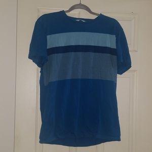 Calvin Klein blue striped t shirt